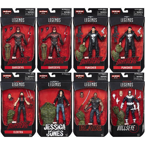 "Marvel Knights (Build-A-Figure Man-Thing) Case of 8 | Marvel Netflix TV Series | Marvel Legends 6"" Action Figure 