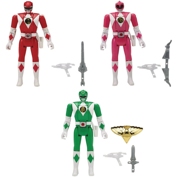 "Mighty Morphin Power Rangers Legacy Head Morph 5"" Action Figure Set of 3 