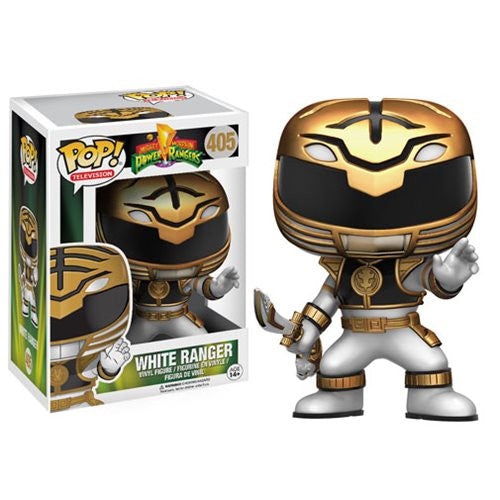 Mighty Morphin' Power Rangers White Ranger Pop! Vinyl Figure - Funko - Woozy Moo