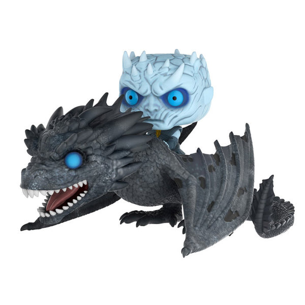 Night King on Dragon (Viserion) | Game of Thrones | POP! Rides Vinyl Figure | Funko | Woozy Moo