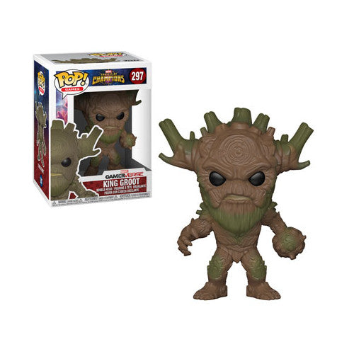 King Groot | Marvel Contest of Champions | GamerVerse POP! Games Vinyl Figure 297 | Funko | Woozy Moo
