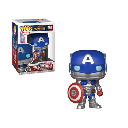 Civil Warrior | Marvel Contest of Champions | GamerVerse POP! Games Vinyl Figure 299 | Funko | Woozy Moo