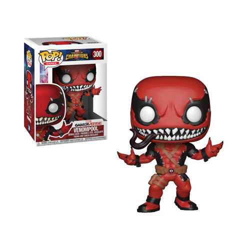 Venompool | Marvel Contest of Champions | GamerVerse POP! Games Vinyl Figure 300 | Funko | Woozy Moo