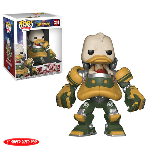 "Howard the Duck | Marvel Contest of Champions | GamerVerse 6"" Super-sized POP! Games Vinyl Figure 301 