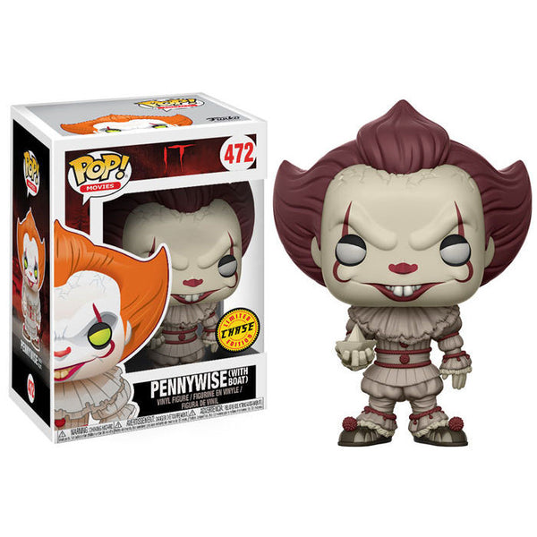 Pennywise (with boat) CHASE variant | It: Part 1 – The Losers' Club | POP! Movies Vinyl Figure | Funko | Woozy Moo