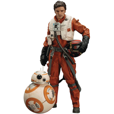 Poe Dameron BB-8 Two-Pack Star Wars Episode VII The Force Awakens ArtFX+ 1/10