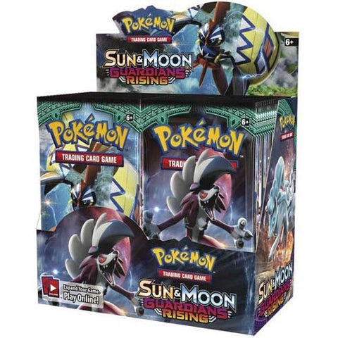Pokemon Trading Card Game - Booster Pack Box Sun & Moon Guardians Rising (36 packs)