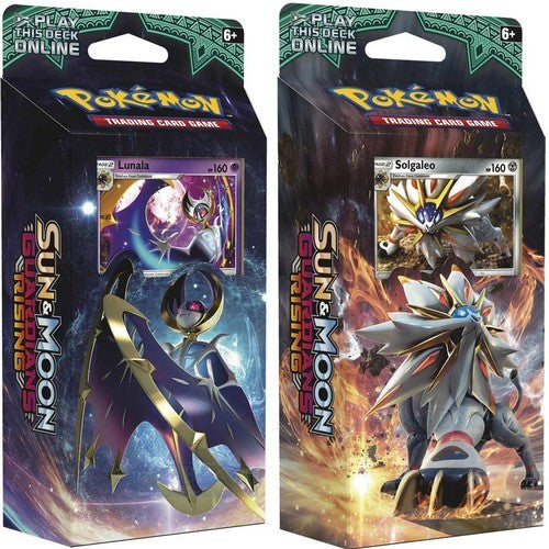 Hidden Moon & Steel Sun Set [Lunala & Solgaleo] - Sun & Moon: Guardians Rising - Theme Deck - Pokemon Trading Card Game - Woozy Moo