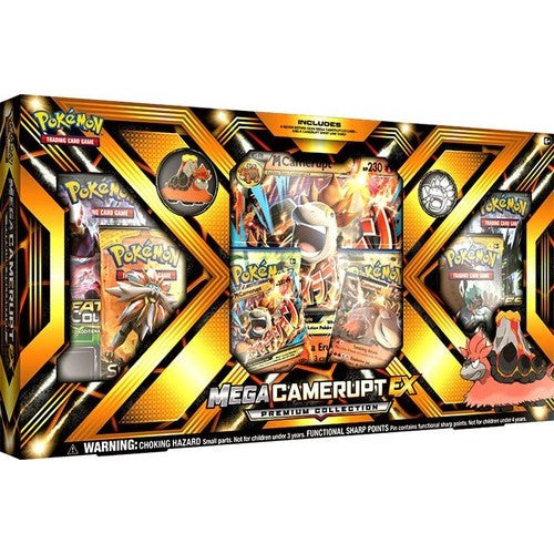 Mega Camerupt-EX - Premium Collection - Sun & Moon - Pokemon Trading Card Game - Woozy Moo