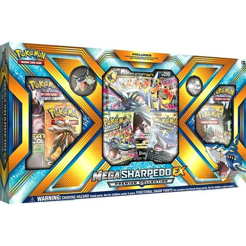 Mega Sharpedo-EX - Premium Collection - Sun & Moon - Pokemon Trading Card Game - Woozy Moo