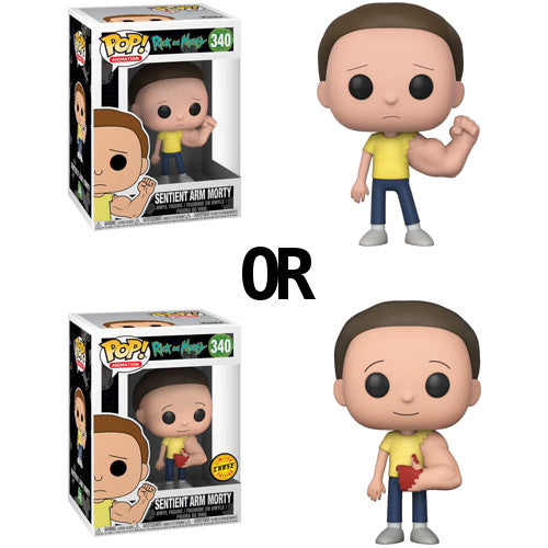 Sentient Arm Morty (with chance of CHASE) | Rick and Morty | POP! Animation Vinyl Figure 340 | Funko | Woozy Moo