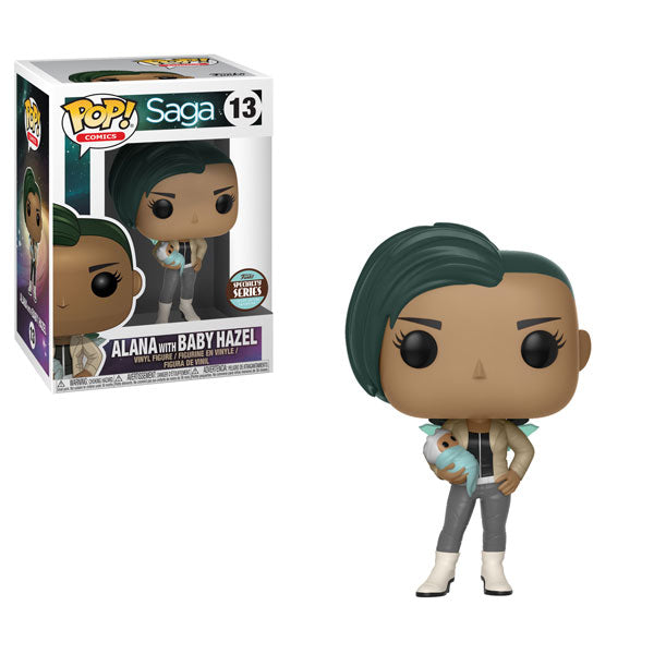 Alana with Baby Hazel (Specialty Series Exclusive) | Saga | POP! Comics Vinyl Figure 13 | Funko | Woozy Moo