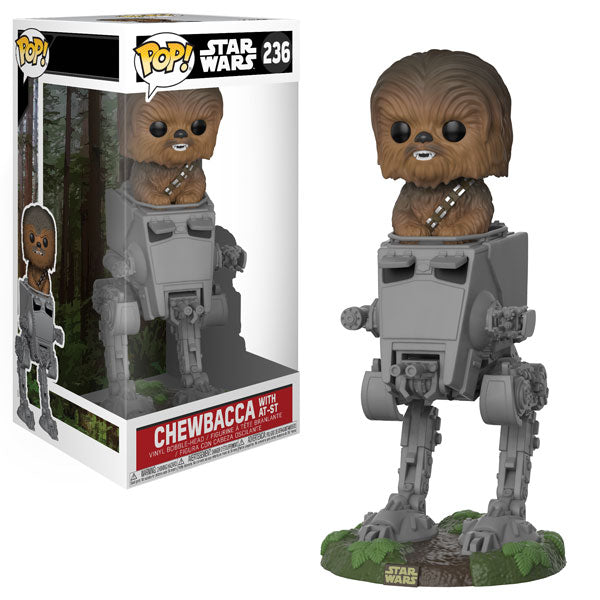 Chewbacca with AT-ST POP! Deluxe Star Wars 236 Vinyl Bobble-head Funko Woozy Moo