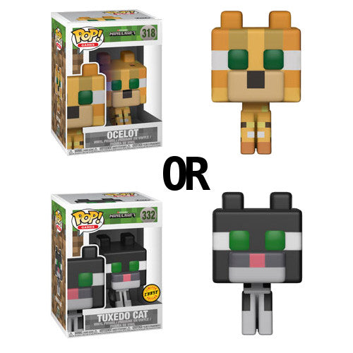 Ocelot (Chance of CHASE: Tuxedo Cat) | Minecraft | POP! Games Vinyl Figure 320 (CHASE: 332) | Funko | Woozy Moo
