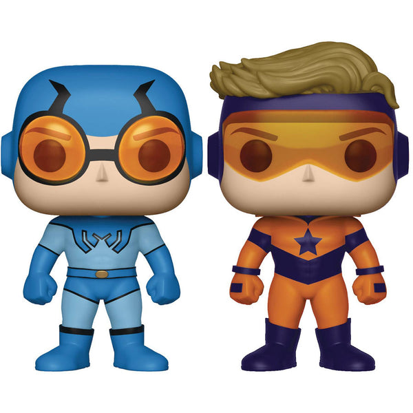 Booster Gold & Blue Beetle 2-Pack (Previews Exclusive) | DC Comics | POP! Heroes Vinyl Figures | Funko | Woozy Moo