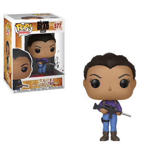 Sasha | The Walking Dead | POP! Television Vinyl Figure 577 | Funko | Woozy Moo