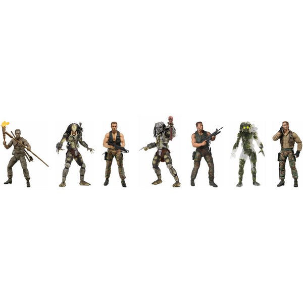 "Predator - 30th Anniversary 7"" Scale Action Figure Assortment - Set of 7 - NECA - Woozy Moo"