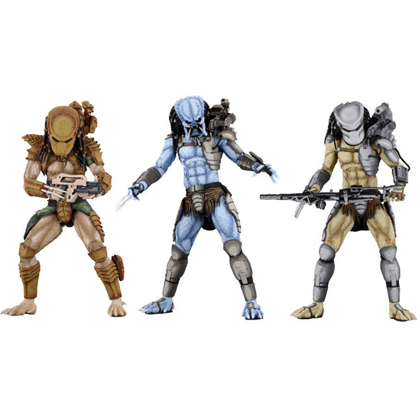 "Predator Assortment (Mad, Warrior, Hunter) | Alien​ vs Predator​ (Arcade Appearance) | 7"" Scale Action Figures 