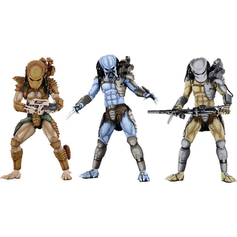 "Predators Arcade Assortment - Alien vs Predator - 7"" Scale Action Figures - Set of 3"