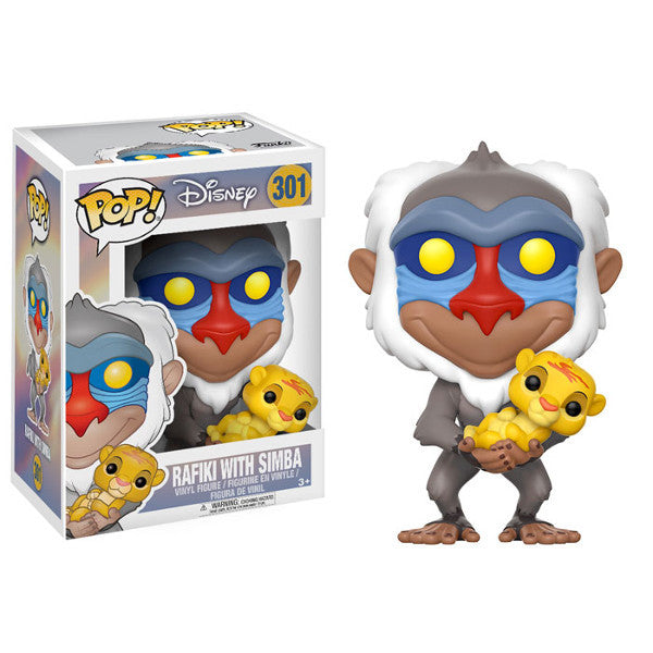 Rafiki with Simba cub - Disney's Lion King - Pop! Vinyl Figure - Funko - Woozy Moo