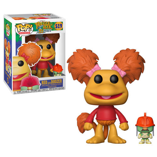 Red with Doozer | Fraggle Rock | POP! Television Vinyl Figure 519 | Funko | Woozy Moo