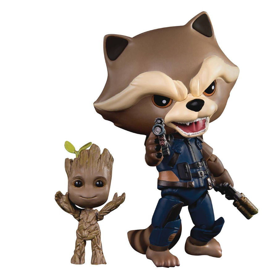 Rocket with Groot - Guardians of the Galaxy Vol. 2 (Marvel Cinematic Universe, GotG2) - Egg Attack Action Previews Exclusive (EAA-049 PX) - Beast Kingdom - Woozy Moo