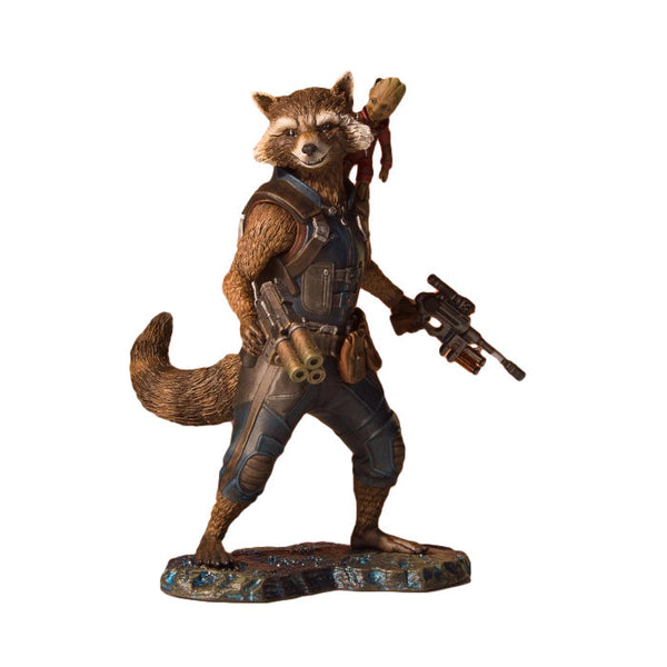Rocket & Groot | Guardians of the Galaxy Vol. 2 (Marvel Cinematic Universe) | Collector's Gallery Statue | Gentle Giant | Woozy Moo