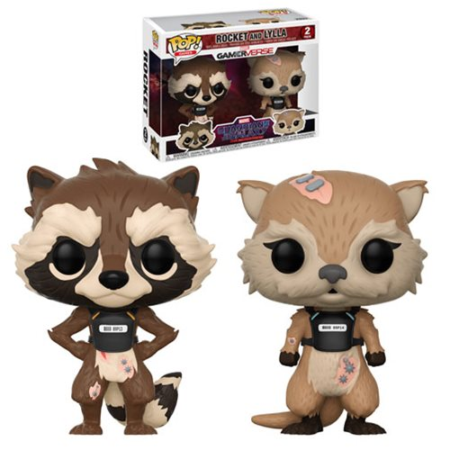 Rocket and Lylla | Marvel: Guardians of the Galaxy: The Telltale Series | POP! Games 2-Pack GamerVerse Vinyl Bobble-heads | Funko | Woozy Moo