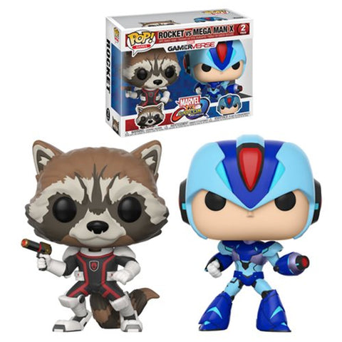 Rocket Mega Man X 2-pack Marvel vs Capcom Infinite GamerVerse Pop Games Vinyl Figures