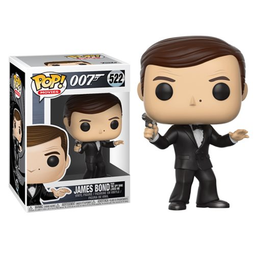 James Bond from The Spy Who Loved Me (Roger Moore) | 007 | POP! Movies Vinyl Figure #522 | Funko | Woozy Moo