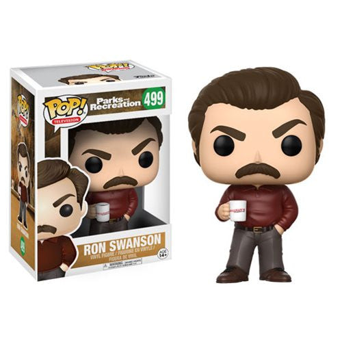 Ron Swanson (Nick Offerman) - Parks and Recreation - Pop! Television Vinyl Figure - Funko - Woozy Moo