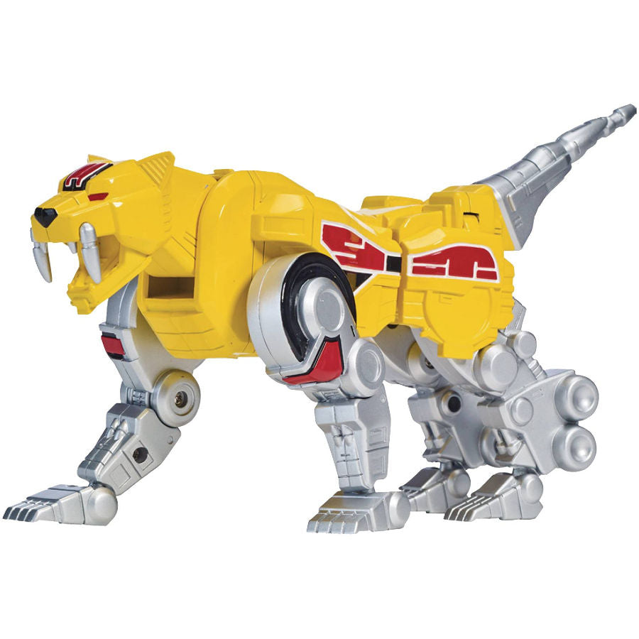 Sabertooth Tiger | Mighty Morphin Power Rangers | Legacy Zord | Bandai America | Woozy Moo