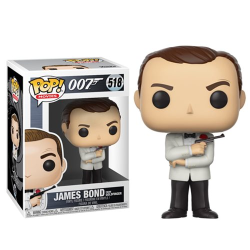 James Bond from Goldfinger (Sean Connery White Tux) | 007 | POP! Movies Vinyl Figure #518 | Funko | Woozy Moo