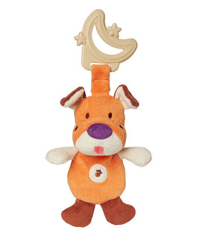 Sensory Eco Teether & Plush: Orange Dog - Greenpoint - Woozy Moo