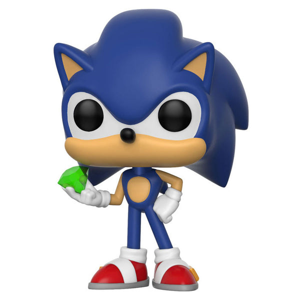 Sonic (with Emerald) | Sonic the Hedgehog | POP! Games Vinyl Figure | Funko | Woozy Moo