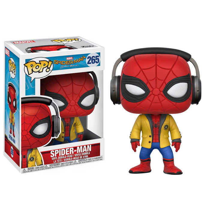 Spider-Man w/Headphones (Tom Holland) | Spider-Man: Homecoming (Marvel Cinematic Universe) | POP! Vinyl Figure | Funko | Woozy Moo