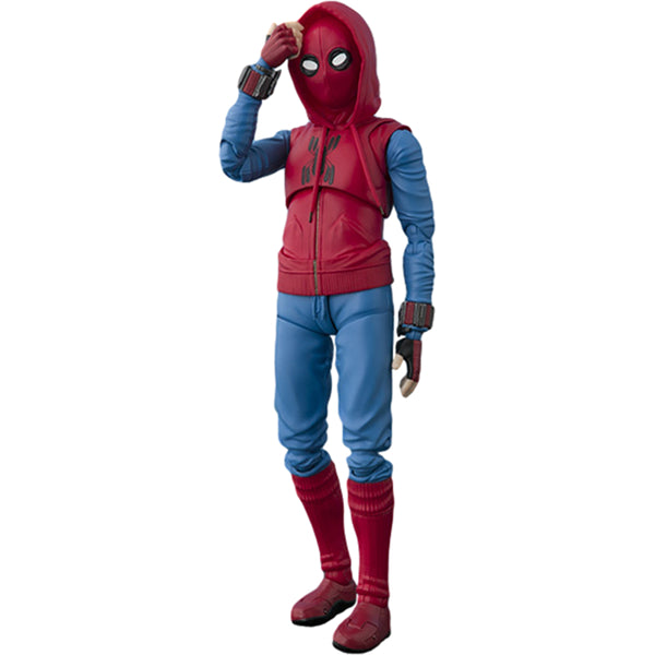 Spider-Man (Homemade Suit Version) & Tamashii Option Act Wall | Spider-Man: Homecoming (Marvel Cinematic Universe) | S.H.Figuarts | Bandai Tamashii Nations | Woozy Moo