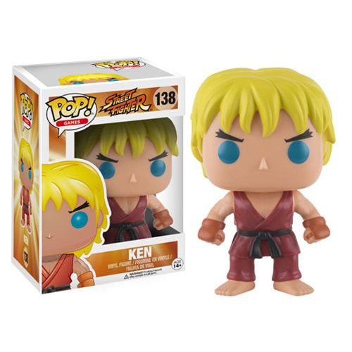 Street Fighter Ken Pop! Vinyl Figure - Funko - Woozy Moo