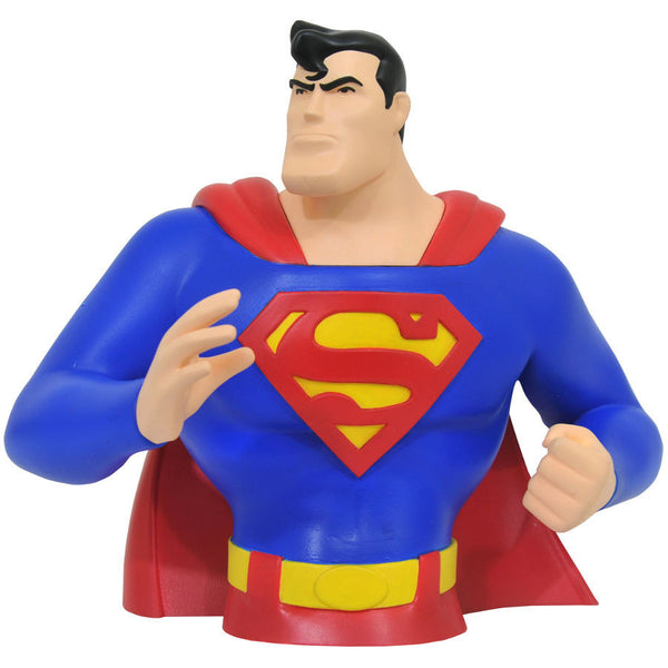 Superman | Superman: The Animated Series (DC Animated Universe) | Bust Bank | Diamond Select Toys / Varner Studios | Woozy Moo