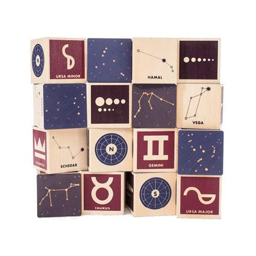 Constellation Wood Building Blocks - Uncle Goose - Woozy Moo