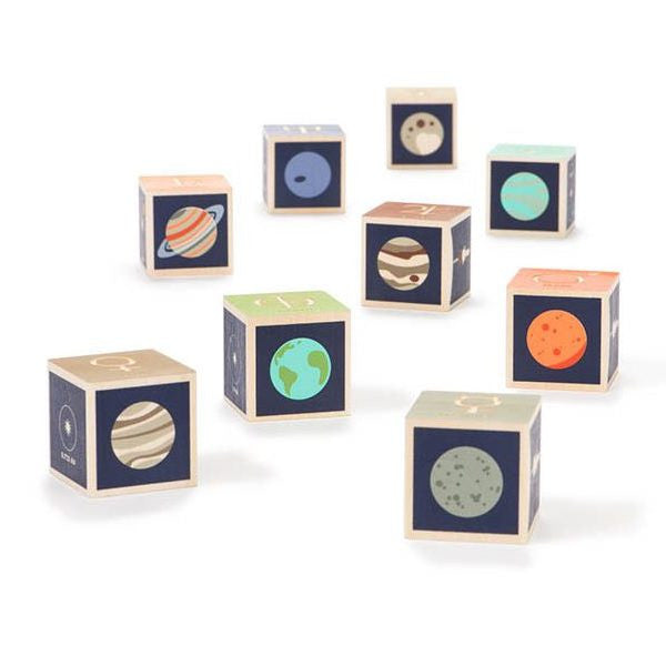 Planet Wood Building Blocks - Uncle Goose - Woozy Moo