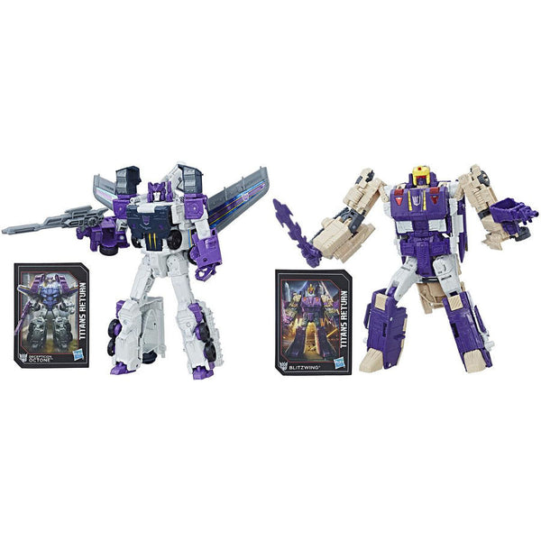Octone & Blitzwing (Voyager Class Wave 5 Set) - Transformers: Generations - Titans Return - Hasbro - Woozy Moo