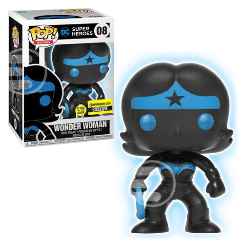 Wonder Woman (Glow-in-the-Dark, Entertainment Earth Exclusive) | DC Super Heroes | POP! Heroes Vinyl Figure 08 | Funko | Woozy Moo