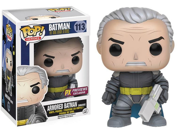 DC Pop! Vinyl Figure - Batman The Dark Knight Returns - Unmasked Armored Batman - Exclusive - Funko - Woozy Moo