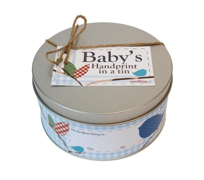 Baby's Handprint in a Tin - Seedling - Woozy Moo - 1