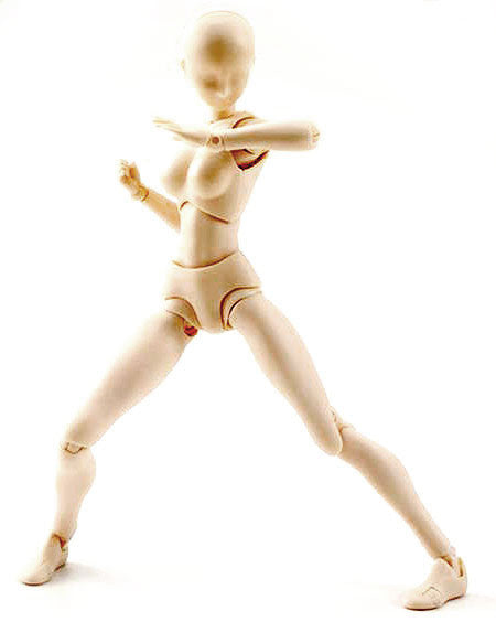 DIY Action Figure: S.H.Figuarts Body-Chan Set - Female (Pale Orange) - Bandai - Woozy Moo - 1