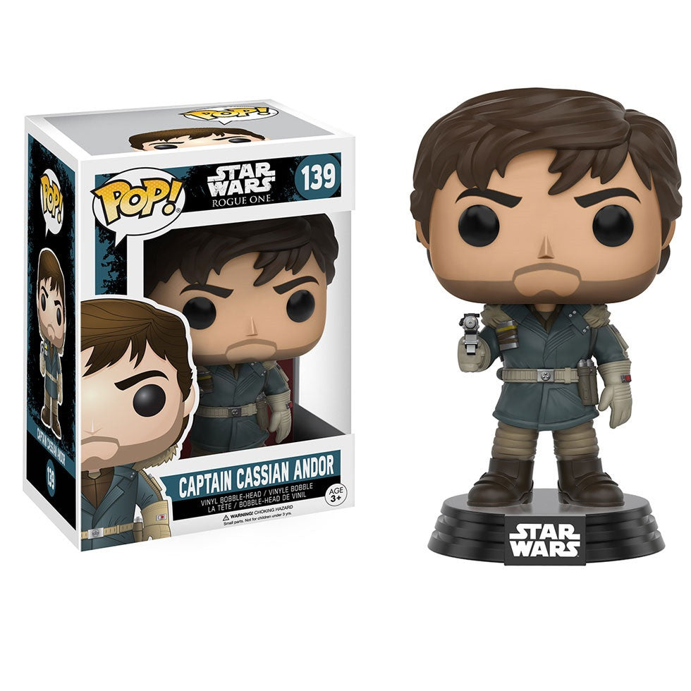 Star Wars Rogue One - Captain Cassian Andor Pop! Vinyl Figure - Funko - Woozy Moo