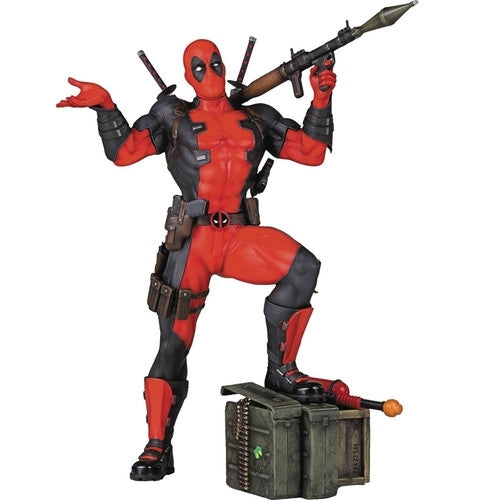 "Deadpool - Marvel Collector's Gallery 10"" Statue - Gentle Giant - Woozy Moo - 1"