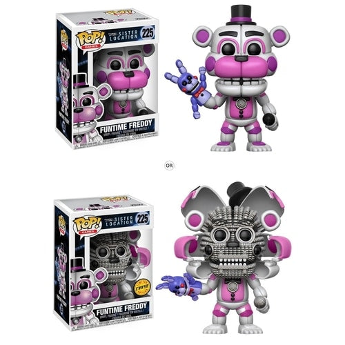 Funtime Freddy Five Nights at Freddy's Sister Location Pop! Vinyl Figure with chase (FNAF)