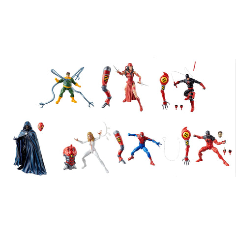 "Amazing Spider-Man Wave 10 (SP//dr BAF) Marvel Legends 6"" Action Figures Case of 7"